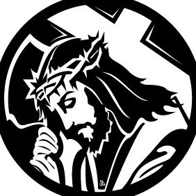 Jesus Carrying The Cross - vector #216201 gratis
