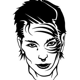Girl With Face Tattoo Vector - vector #216281 gratis