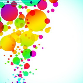 Colorful Bubbly Background - vector gratuit #216351