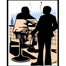Scene From Bar Vector - vector #216361 gratis