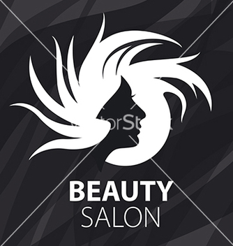 Free logo womans head for the beauty salon vector - Kostenloses vector #216441