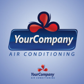 Air Conditioning Logo Template - vector gratuit #216461