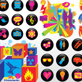 Cool Vector Icons - vector #216501 gratis