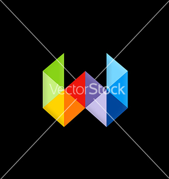 Free triangle abstract letter w color logo vector - Kostenloses vector #216531
