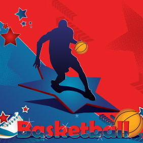 Basketball Postcard - vector gratuit #216661