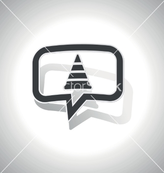 Free curved traffic cone message icon vector - vector gratuit #216861