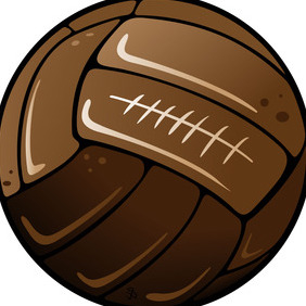 Old Soccer Ball Vector - Free vector #216911