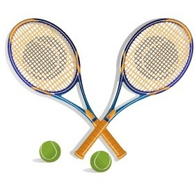 Tennis Racket Vector Clip Art - Free vector #216991