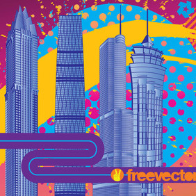 City Fireworks - Free vector #217071