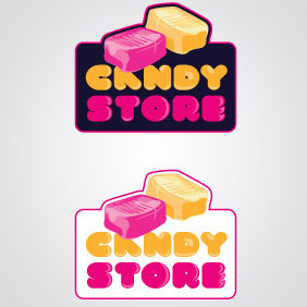 Candy Store Logo Template - vector gratuit #217161
