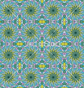 Free colorful seamless pattern abstract flowers vector - vector gratuit #217171