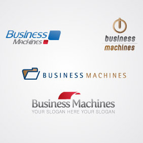 Business Machine Logo Template - vector gratuit #217181
