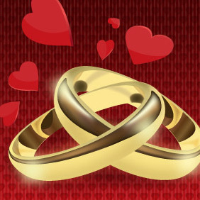 Rings Of Love - vector gratuit #217251