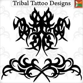 Tribal Tattoo Designs - Free vector #217301