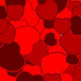 Background With Hearts Free Vector - Kostenloses vector #217431