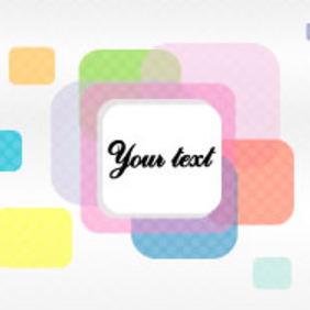 Round Square Banner Vector - Free vector #217651