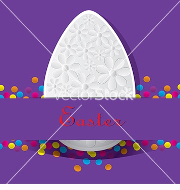 Free purple card for easter vector - vector gratuit #217721