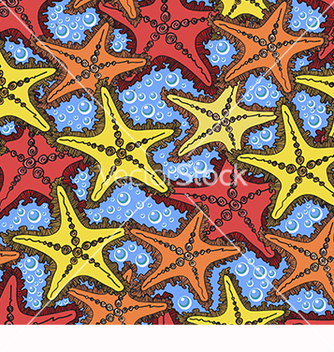 Free pattern with starfish vector - vector #217831 gratis
