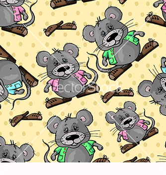 Free pattern with a mouse on a yellow background vector - бесплатный vector #217871