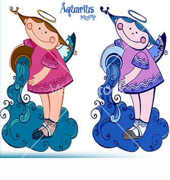 Free zodiac sign aquarius vector - Free vector #217891