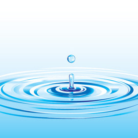 Realistic Water Drop Splash - vector gratuit #217911