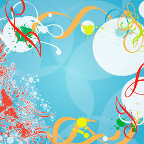 Blue Background Splash Vector Design - Kostenloses vector #217951