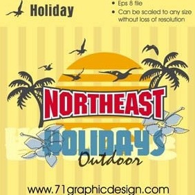 Holiday - vector gratuit #218101