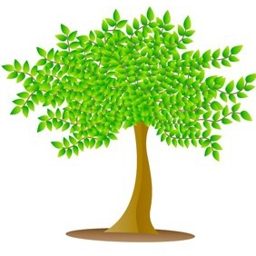 Vector Tree Illustration - Free vector #218321
