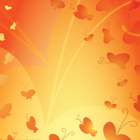 Abstract Butterfly Background 2 - vector gratuit #218351