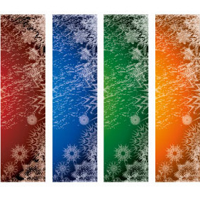 Xmas Vector Banners Set 2 - Free vector #218361