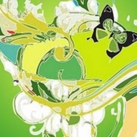Painty Green Vector - Free vector #218441