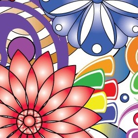 Floral Abstract - vector #218511 gratis