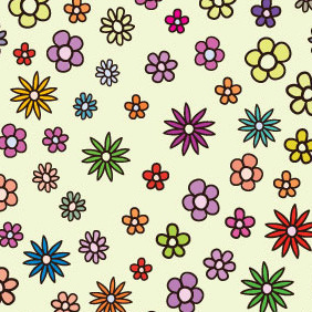 Free Floral Colorful Pattern - vector #218841 gratis