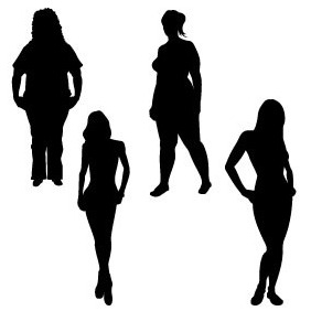 Girl Silhouettes - vector gratuit #218851