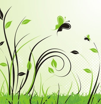 Green Landscape - Free vector #218931