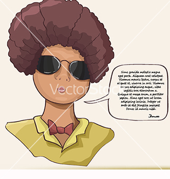 Free card for text with a girl vector - vector gratuit #218951