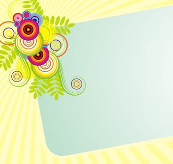 Sunny banner - Free vector #219071