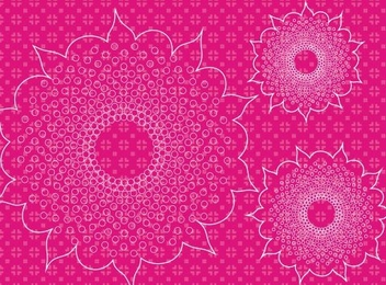 Pattern of flowers - vector #219101 gratis