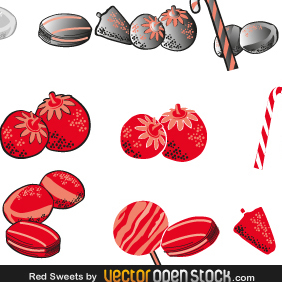 Red Sweets - vector #219311 gratis