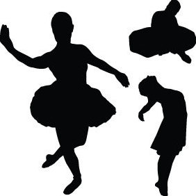 Vector Dancer Silhouettes - vector gratuit #219591