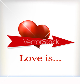 Free banner for text with a heart vector - Kostenloses vector #219611