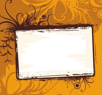 Orange frame - Free vector #219761