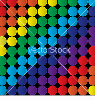 Free abstract background with colored circles vector - Free vector #219811