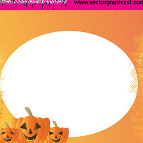 Halloween Vector Art Greeting Card - Free vector #219881