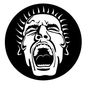 Screaming Face Vector Image - бесплатный vector #219981