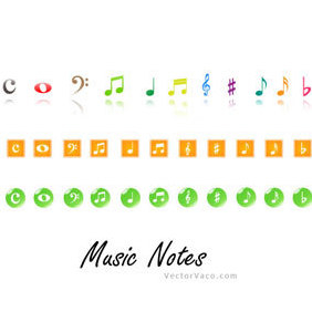 Music Notes - vector gratuit #220011