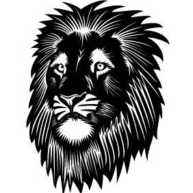 Lion Head Vector - vector #220041 gratis