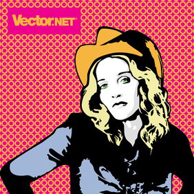 Cowgirl Madonna - Free vector #220081