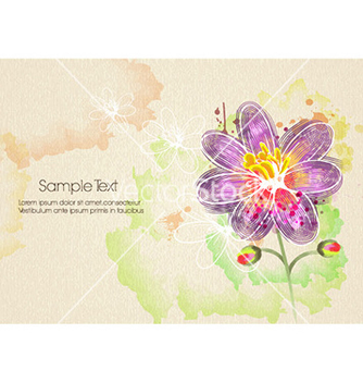 Free watercolor floral background vector - бесплатный vector #220181