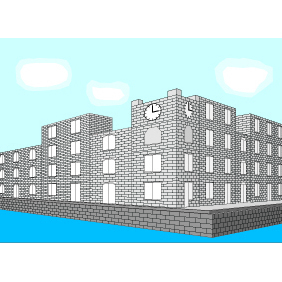 The Old City By The Sea - vector gratuit #220321
